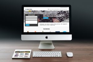 Web design on iMac