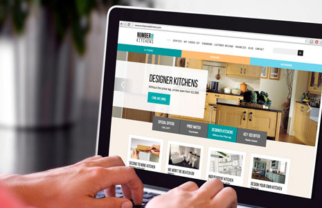 Number One Kitchens website design
